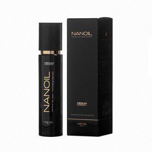 Bogaty w składniki olejek do włosów Nanoil